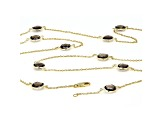 Brown Smoky Quartz 18k Yellow Gold Over Sterling Silver Necklace 22.95ctw