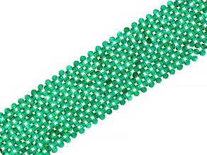 Green Onyx Rhodium Over Sterling Silver Bracelet
