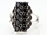 Black Spinel Rhodium Over Sterling Silver Ring 2.55ctw