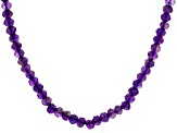Purple Amethyst Rhodium Over Sterling Silver Necklace