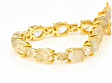 Golden Rutilated Quartz 18k Yellow Gold Over Silver Bracelet 27.30ctw