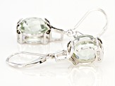 Green Prasiolite Rhodium Over Sterling Silver Earrings 6.56ctw