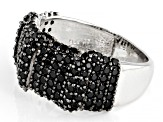 Black Spinel Rhodium Over Sterling Silver Ring 1.39ctw