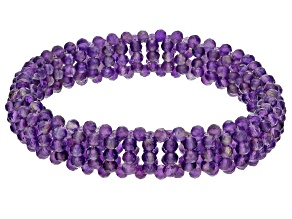 Purple Amethyst Stretch Bracelet 3-4mm