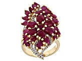 Red Ruby 18k Yellow Gold Over Sterling Silver Ring 8.83ctw