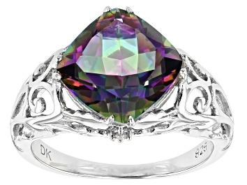 Picture of Multicolor Quartz Rhodium Over Silver Ring 3.42ctw