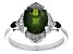 Green Russian Chrome Diopside Rhodium Over Sterlilng Silver Ring 2.94ctw