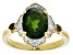 Green Russian Chrome Diopside 18k Yellow Gold Over Sterling Silver Ring 2.94ctw