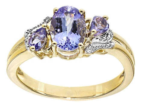 Blue Tanzanite 18k Gold Over Silver Ring 1.35ctw