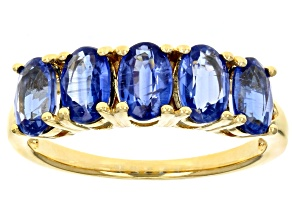 Blue Kyanite 18k Yellow Gold Over Sterling Silver Ring 2.50ctw
