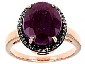 Red Ruby 18k Rose Gold Over Silver Ring 4.73ctw