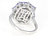 Blue tanzanite rhodium over sterling silver ring 1.77ctw