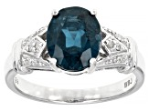 Blue Chromium Kyanite Rhodium Over Silver Ring 2.74ctw