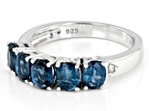 Teal Chromium Kyanite Rhodium Over Silver Ring 2.05ctw