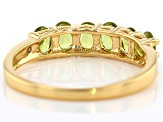 Green vesuvianite 18k gold over silver band ring .92ctw