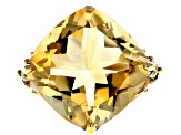 Yellow citrine 18k yellow gold over silver ring 8.40ctw