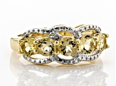 Yellow Beryl 18k Gold Over Silver Ring .88ctw