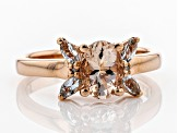 Pink Morganite 18k Rose Gold Over Silver Ring 1.17ctw