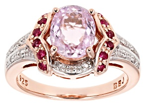 Pink Kunzite 18k Rose Gold Over Sterling Silver Ring 2.32ctw
