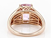 Pink kunzite 18k rose gold over silver ring 3.26ctw