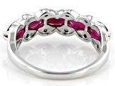 Red Ruby Rhodium Over Sterling Silver Ring 1.43ctw