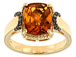 Orange Citrine 18k Yellow Gold Over Sterling Silver Ring 2.41ctw