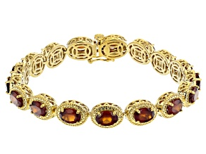 Red Garnet 18K Yellow Gold Over Sterling Silver Bracelet 13.83ctw