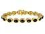 Oval Moldavite With Round Diamond 18K Gold Over Sterling Silver Bracelet 8.24ctw