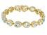 Sky Blue Topaz 18K Gold Over Sterling Silver Bracelet 12.01ctw