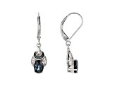 Lab Created Alexandrite Rhodium Over Sterling Silver Earrings 1.67ctw