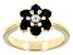 Blue Sapphire 18k Yellow Gold Over Sterling Silver Ring 1.01ctw