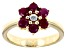 Red Ruby 18k Yellow Gold Over Sterling Silver Ring 1.06ctw