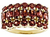 Red Garnet 18k Yellow Gold Over Sterling Silver Ring 3.60ctw