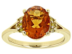 Orange Madeira Citrine 18K Yellow Gold Over Sterling Silver Ring 2.23ctw