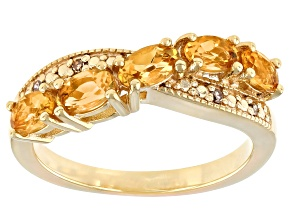Yellow Citrine 18k Yellow Gold Over Sterling Silver Ring 0.92ctw