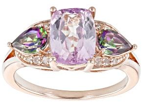 Pink Kunzite 18K Rose Gold Over Sterling Silver Ring 3.19ctw
