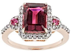 Pink Tourmaline 14k Rose Gold Ring. 2.61ctw
