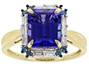 Blue Tanzanite 14k Yellow Gold Ring 3.83ctw