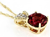 Pink Tourmaline 14K Yellow Gold Pendant With Chain. 1.82ctw