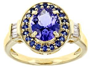Blue Tanznite 10K Yellow Gold Ring 1.88ctw