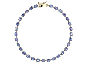 Blue Tanzanite 10K Yellow Gold Bracelet  4.50ctw