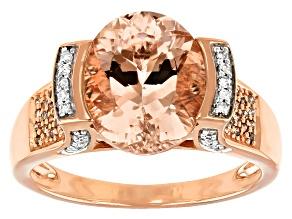 Peach Morganite 10K Rose Gold Ring 2.94ctw