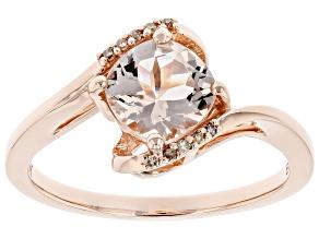 Peach Morganite 10k Rose Gold Ring 0.73ctw