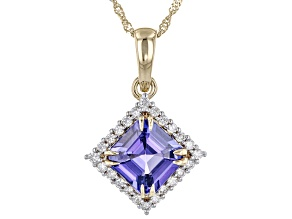 Blue Tanzanite 14K Yellow Gold Pendant With Chain 2.62ctw