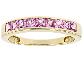 Pink Sapphire 10kt Yellow Gold Ring 0.60ctw