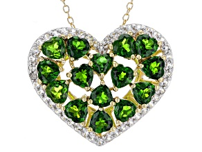Green Chrome Diopside 18k Gold Over Silver Pendant With Chain 5.74ctw
