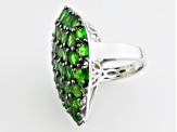 Green Russian Chrome Diopside Sterling Silver Ring 9.23ctw.