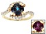 Color Change Lab Alexandrite 18k Gold Over Silver Ring 2.44ctw