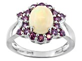 Multi Color Ethiopian Opal Sterling Silver Ring 1.72ctw.