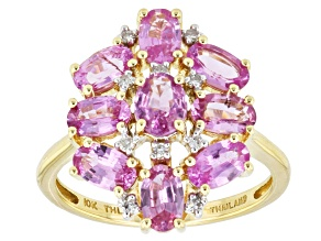 Pink Sapphire 10k Yellow Gold Ring 2.27ctw